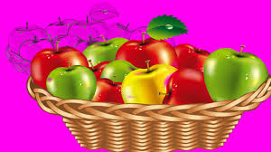 green and red apples in basket. red apple green fruits basket drawing for kids and pre school song - youtube apples in