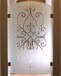stunning home decor with sandblasted glass doors engaging home interior decoration using hanging double etched