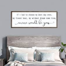 Design My Dream Bedroom Simple Large Bedroom Sign Mine Would Be You Lyrics Farmhouse Etsy