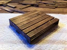 mini wooden pallet coasters