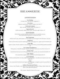 Fancy Restaurant Menu Set Against An Intricate Black And White Tapestry Design