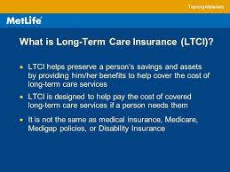 metlife long term care insurance training materials ltc101 long term care basics long