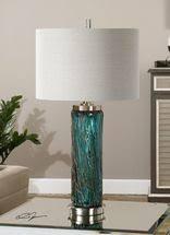 blue glass lamp. Almanzora Blue Glass Lamp