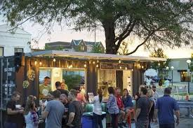 people congregate at the larkin beer garden in downtown midland photo nbsp provided