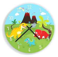 kids room clocks dinosaurs and volcano wall clock for kids room  contemporary house furniture store bentonville . kids room clocks ...