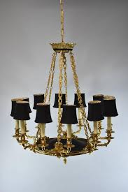 neoclassical italian neoclassic style black ebonized and bronze 12 light chandelier for