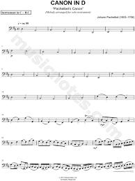 Instrumental duet in d major. Johann Pachelbel Canon In D Sheet Music Cello Trombone Bassoon Baritone Horn Or Double Bass In D Major Download Print Sku Mn0123980