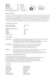 Secretarial Resume Template Also Medical Secretary Sample Fancy ...