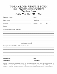 027 Maintenance Work Order Template Excel New Job Card