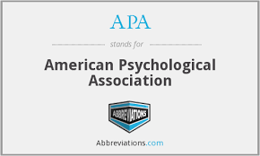 american phsycological association what is the abbreviation for american psychological association