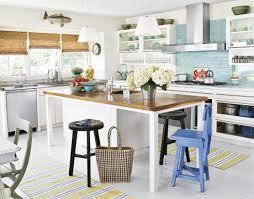 Beach House Kitchen With Coastal Area Rugs