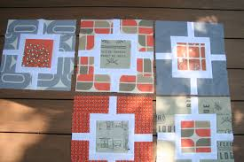 orange and grey quilt | Factotum of Arts & ... fabrics from spoonflower.com, I have been able to start the grey and orange  quilt for my husband and I. I love the new fabrics. Adamdwight.com