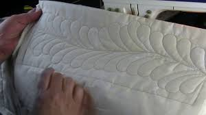 Quilting Feathers on a Domestic Machine with templates - YouTube &  Adamdwight.com