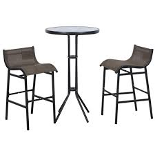 3 piece bar height patio bistro set