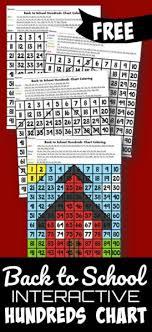 Color By Number Hundreds Chart Back To School Interactive Hundreds Chart Kindergarten