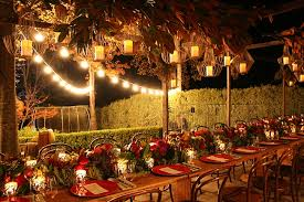 outdoor party lighting hire. birthday party styling, outdoor dinner, string lights, event stylist, timber table hire lighting