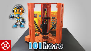 101 hero unboxing and construction of worlds est 3d printer from kickstarter