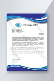 Letterhead Samples Free Download Professional Letterhead Templates With Blue Abstract Flyer