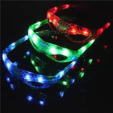 Mask Decorating Supplies Tronzo 100Pcs LED Spiderman Glasses Luminous Cool Mask Halloween 87