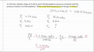Combined Gas Law Formula Chemistry