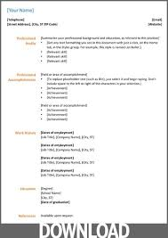 Microsoft Office Template Resume All About Letter Examples