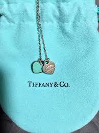 tiffany co return to tiffany mini double heart tag pendant necklace silver 1789947362