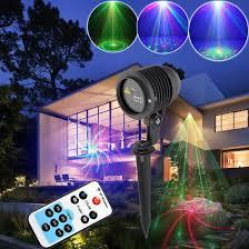 high quality landscape lighting remote control rb 20 patterns ip65 garden decoration holiday laser project lights 110v 120v in spotlights from lights