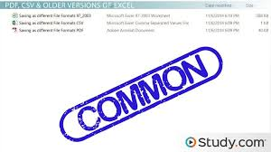 How To Save Excel Workbook Files In Different Formats Video