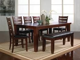 table with bench and chairs. dining room table with bench and chairs home decor ideas