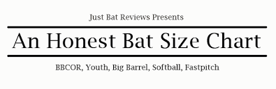 Youth Softball Bats Size Chart Coles Thecolossus Co