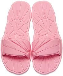 Miu Miu Pink Rubber Pool Slide Sandals Womens Shoes We Always