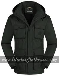 plus size cotton padded winter coat with pockets rm309 00 rm339 00