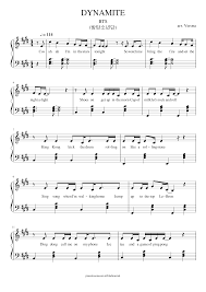 These 5 popular piano songs with lyrics and letters are easy to play for beginners of all ages. Dynamite Bts 방탄소년단 Easy With Lyrics Sheet Music For Piano Solo Musescore Com