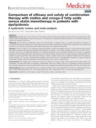 Statin Efficacy Chart Pdf Comparison Of Efficacy And Safety Of Combination