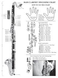 Clarinet Note Chart For Beginners Basic Fingering Chart For Bass Clarinet
