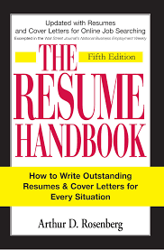 The Curriculum Vitae Handbook Best The Resume Handbook Book By Arthur D Rosenberg Official