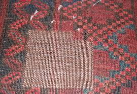 old afghan rug repair