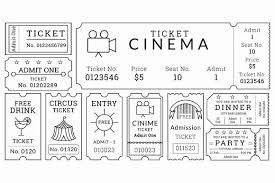 Printable Movie Ticket Template Elegant 16 Movie Ticket