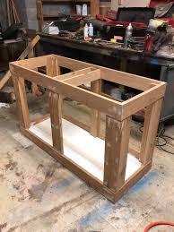 diy build in progress 75 gallon tank stand build