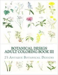 Amazoncom Botanical Design Adult Coloring Book Iii 50 Antique