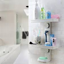 description multifunction suction cup bathroom shelf
