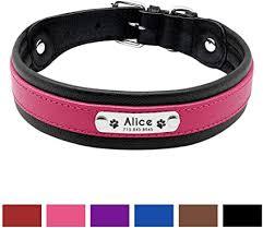Braided Leather <b>Personalized Dog Collar</b> Leash set ID Tag ...
