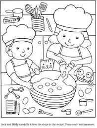 Small Picture Colouring in page Sample page from Color Cook Story Coloring