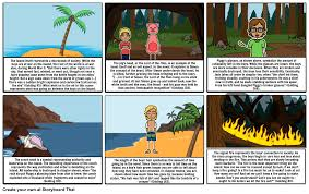 lord of the flies symbols storyboard by emilyvalazza