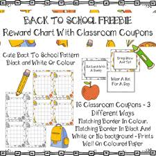 Reward Chart With Classroom Reward Coupons Back To