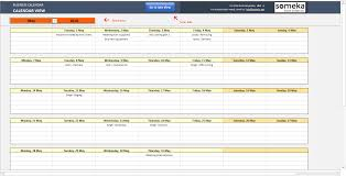014 Automatic Schedule Planner Someka Ss12 Template Ideas