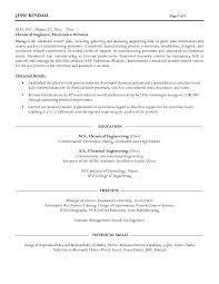 Chemical Engineer Resume Essayscope Com