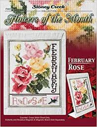 Month Flowers Chart Flowers Of The Month February Cross Stitch Chart And Free