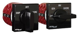 ac source selector switches marine newmar dc power onboard Basic Electrical Wiring Breaker Box ac source switches ship shore group