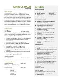 Civil Engineering Cv Template Structural Engineer Highway Design